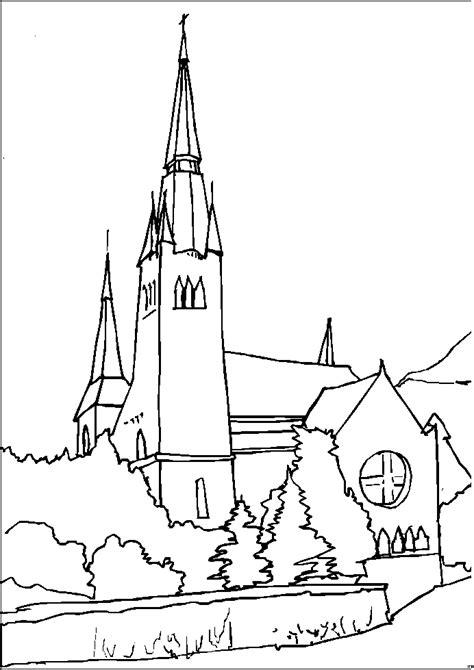 hohe kirche ausmalbild malvorlage religion