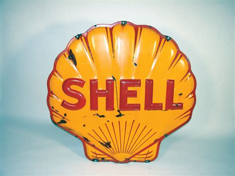 Currently, we can provide some of these legal notices, including statements, electronically. 1941 Shell Oil heavily embossed porcelain service station sig - 72341