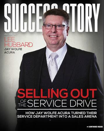 success story selling    service drive