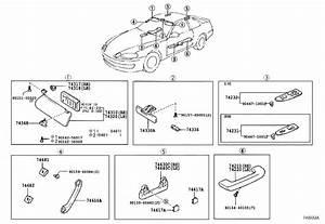 Lexus Sc 400 Visor Assembly  Right  Ivory