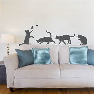 Cat wall decals roselawnlutheran for Cat wall decals
