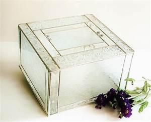 elegant stained glass wedding keepsake display box reception With glass box wedding invitations