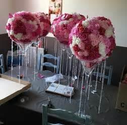 vase mariage diy boules de fleurs pour vase martini centre de table causons mariage