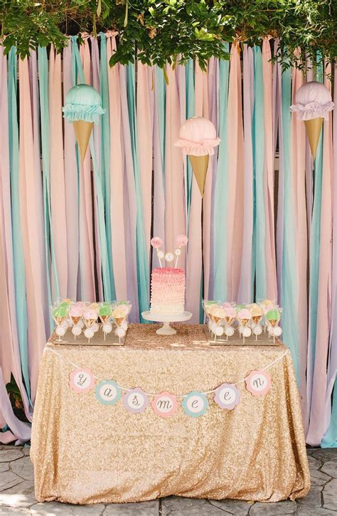 yasmeens ice cream themed st birthday party