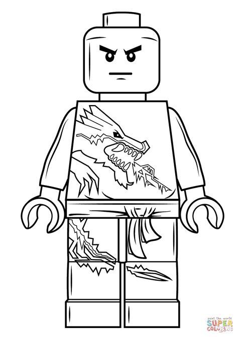 lego ninjago zane coloring page  printable coloring