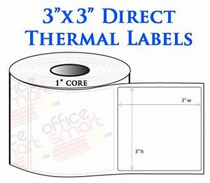 1 roll 3x3 direct thermal labels zebra gc420d gc420t With 3x3 labels