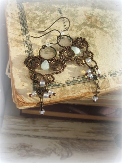 wire wrapped chandelier earrings by lirimaer86 on deviantart