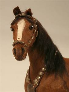 Horse Figurine Real Horse Hair For Sale Old Plank