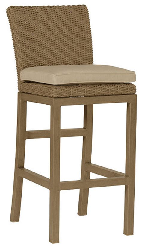 rustic bar height outdoor bar stool with cushion 30 quot seat