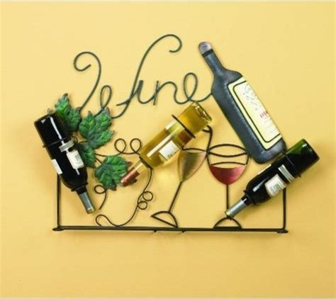 Vintage Wine Grape Kitchen Decor by Wine Rack Holder Wall Art Bottles Glasses Vintage Home