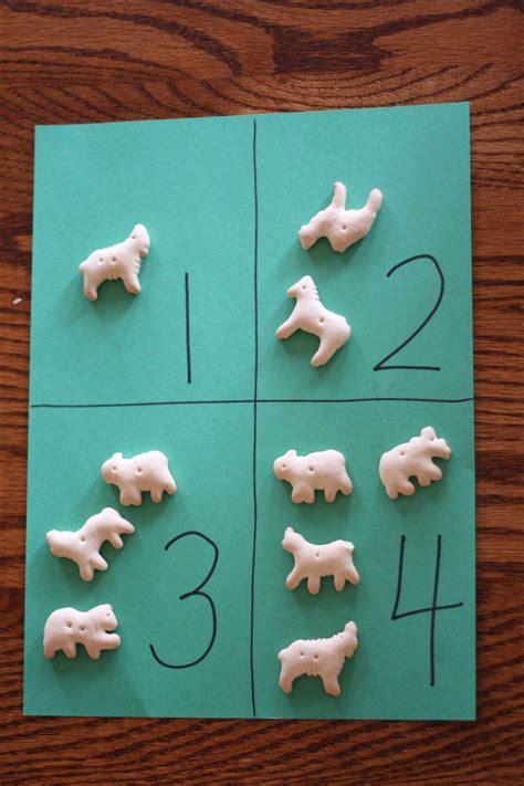 animal cracker counting     correspondence