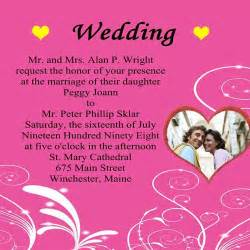 invitation wedding card wedding invitation wording wordings for wedding invitation cards