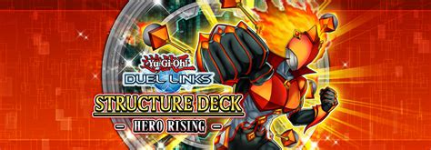 hero rising duel links deck yugioh structure monsters yu gi oh strengthen