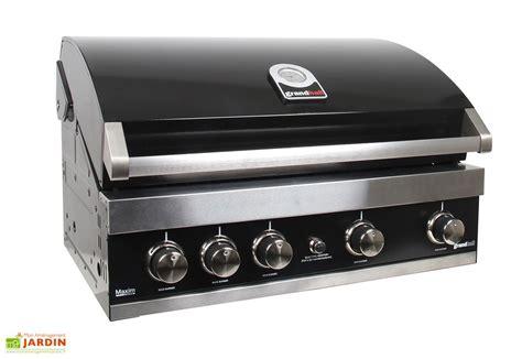 barbecue gaz encastrable acier noir maxim gti4 grandhall