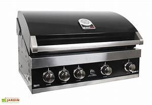 Four à Gaz Encastrable : barbecue gaz encastrable acier noir maxim gti4 grandhall ~ Dailycaller-alerts.com Idées de Décoration