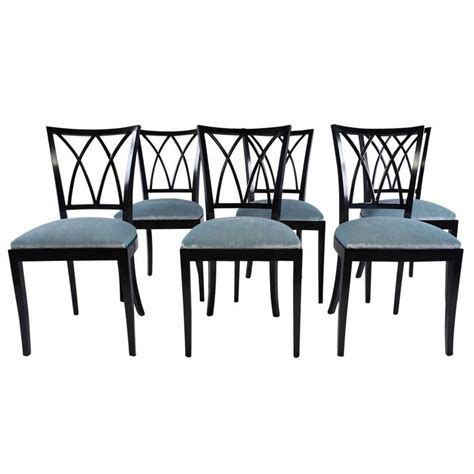 set of four vintage plywood and walnut chairs by norman cherner for plycraft at set of six regency dining chairs at 1stdibs