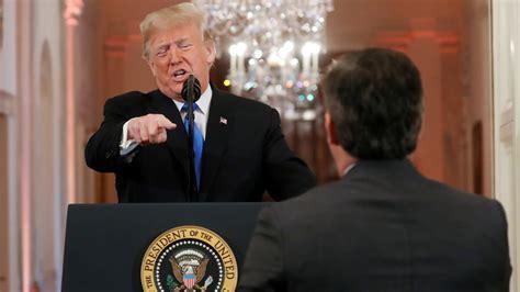 trump explodes  reporters  white house presser