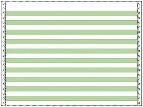 continuous paper        green bar