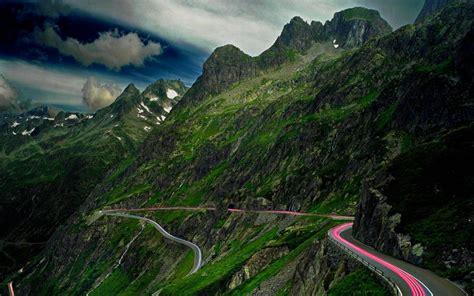 hd winding mountain road wallpaper