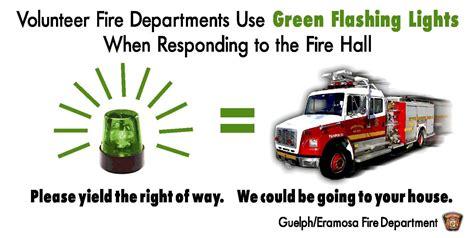 volunteer firefighter light laws guelph eramosa township fire department