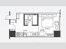 One Bedroom Apartment Floor Plans Sq M Latest