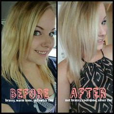 Shimmer Lights Shoo Before And After by Before And After Using Clairol Shimmer Lights I Left It