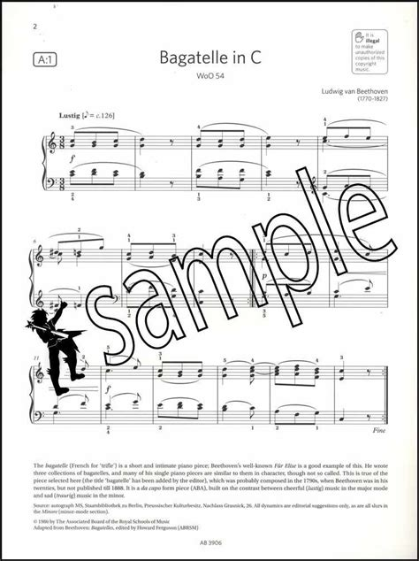 In particular, you are reminded that you are not allowed to bring books, music or papers into the examination room. ABRSM Piano Exam Pieces 2019 2020 Syllabus Grade 4 Sheet ...