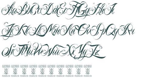fancy script fonts  tattoos   top tattoos