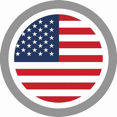 Flag Vector American Silhouette United States Circle
