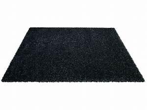 tapis 230x160 cm shaggy studio coloris noir vente de With tapis shaggy avec canapé 2 3 places noir