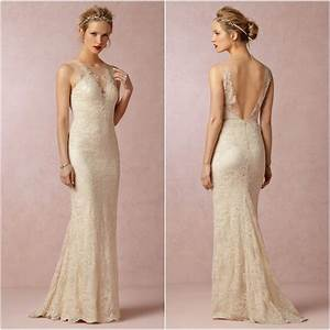 2014 transparent neck low back mermaid wedding dress lace With low back lace mermaid wedding dress