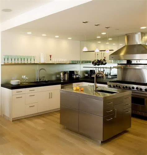 new kitchen designs 2014 modern kitchen design with stainless steel island 3506