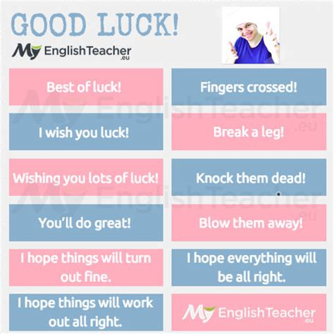Other Ways To Say Good Luck! Myenglishteachereu
