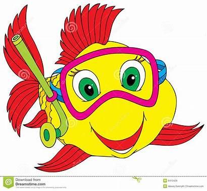 Fish Clipart Clip Ocean Diver Cartoon Sea
