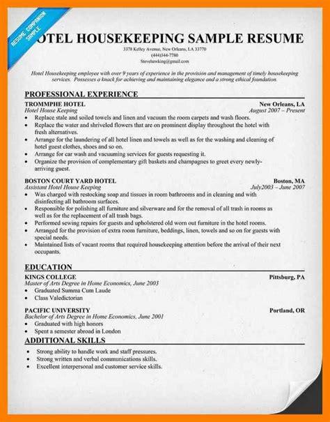 Resume For Housekeeping by Hospital Housekeeping Resume Resume Format