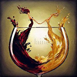 Limited Edition Giclee of Wine Painting Signed by Original ...