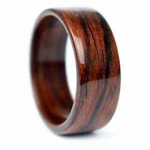 Rosewood wooden ring handmade in chicago il each ring is for Mens wood rings wedding