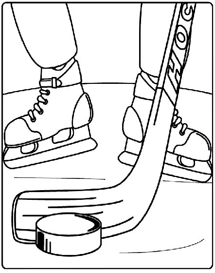 hockey coloring page crayolacom