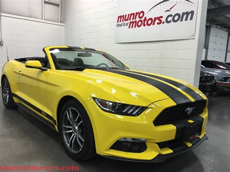 2015 Ford Mustang Sold Ecoboost Premium Convertible Yellow