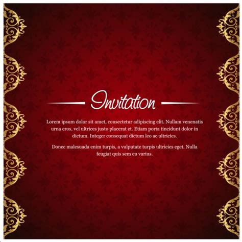 Invitation Backgrounds With Golden Invitation Background Vector 01 Vector