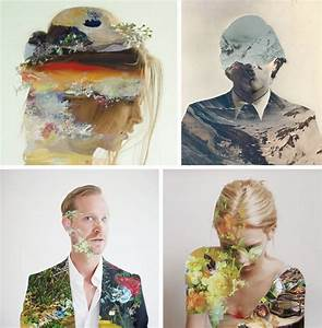 Everywhere, Art, Double, Exposure, Portraits, Reinterpreted