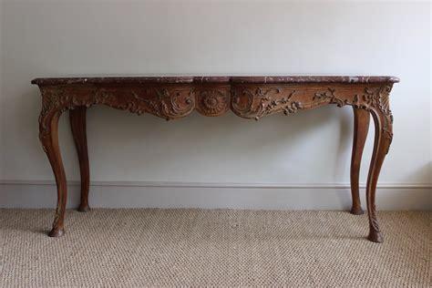 antique oak console table a carved oak marble console table by marc du 4116