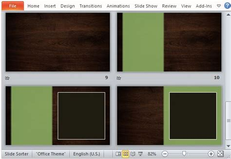 elegant woodgrain nature powerpoint template