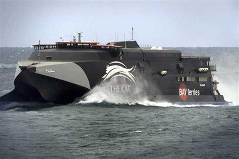 Catamaran Ferry In Rough Seas by About Australia Bass Strait Ferries