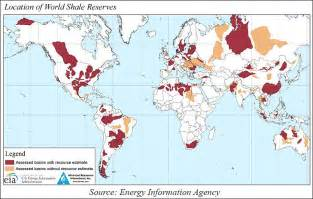 World Shale Oil Reserves by Countries