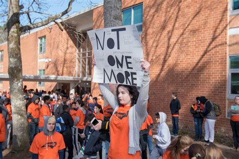 chccs students join national gun violence protest walk classes