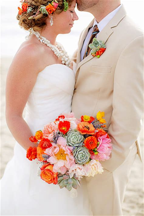 Bold Colorful Wedding Bouquets Bridalguide