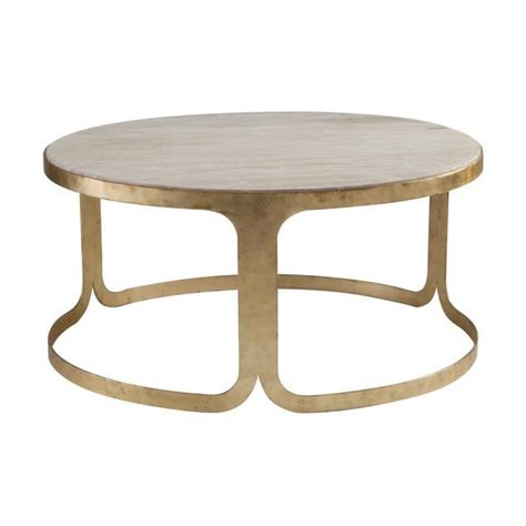 gold base coffee table round gold base beige stone top coffee table