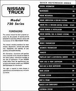 1985 Nissan Pickup Truck Repair Shop Manual Original