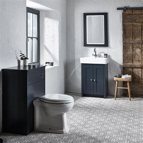 2933 gray bathroom mirror tavistock lansdown back to wall toilet unit grey 600